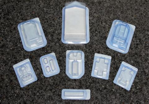 Abbildung: Übersicht sterile Blisterverpackungen